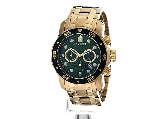 Amazon.com: Invicta Mens Pro Diver Quartz Stainless Steel Casual Watch, Color:Gold-Toned (Model: 21925): Watches