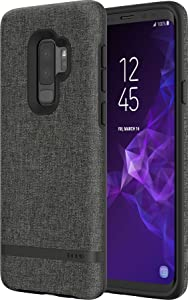 Incipio Carnaby Samsung Galaxy S9+ Case [Esquire Series] with Co-Molded Design and Ultra-Soft Cotton Finish for Samsung Galaxy S9 Plus (2018) - Gray