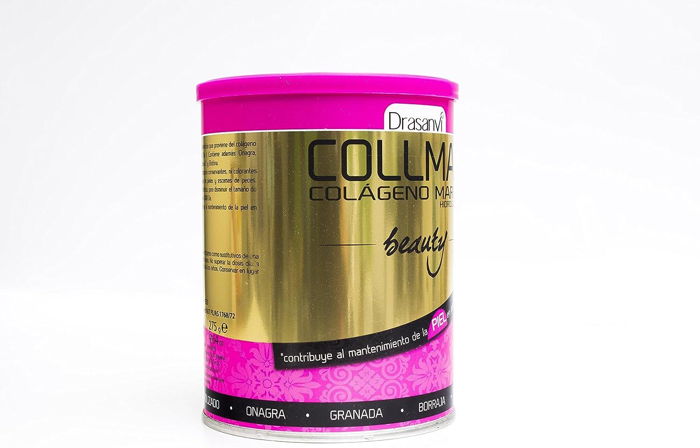 Collmar Beauty 275 g – Colágeno marino hydrolysé enzymatiquement, aceite de onagro, Granada, aceite de Borago, Vitamina C y ácido hialurónico: Amazon.es: Salud y cuidado personal