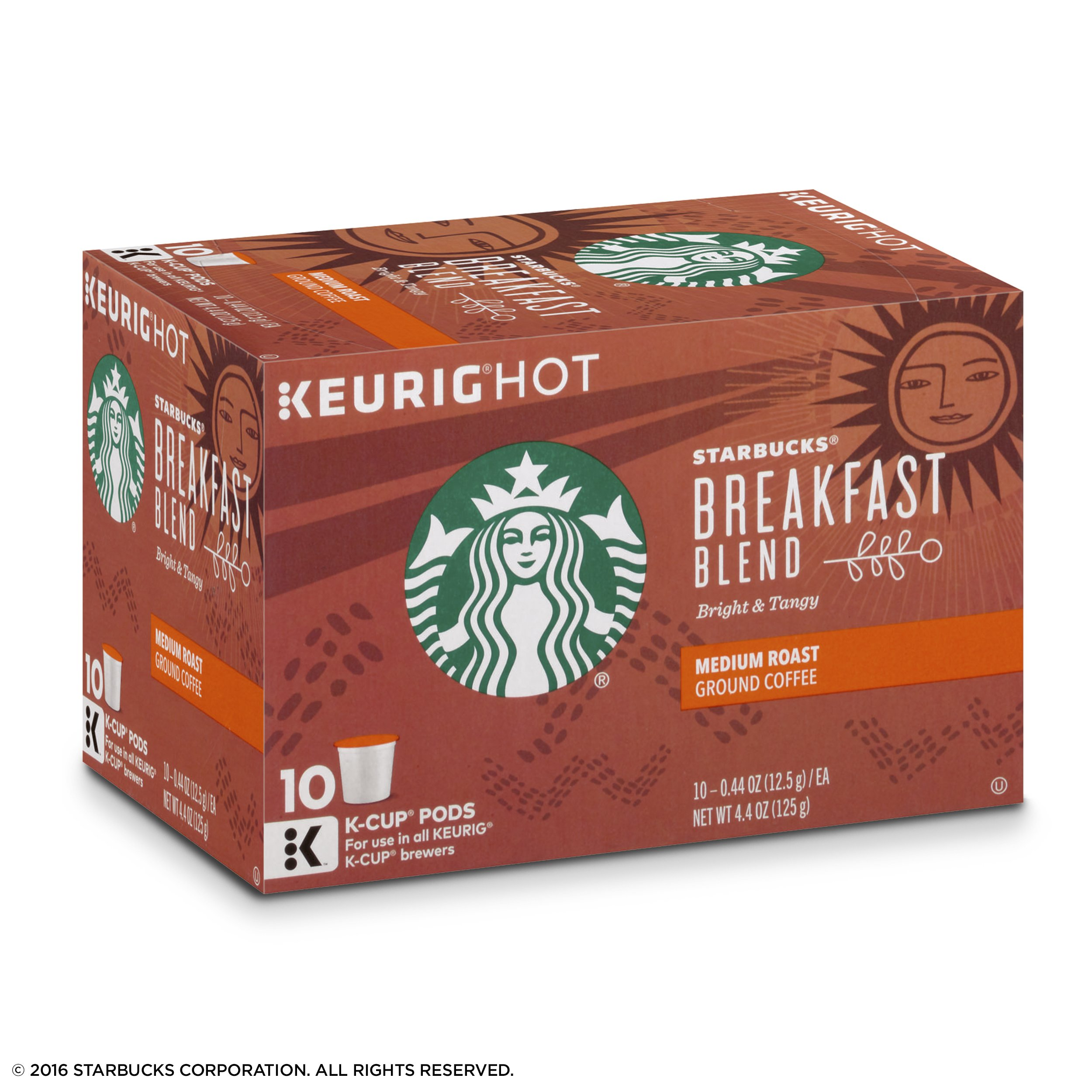 Starbucks Breakfast Blend Medium Roast Single Cup Coffee for Keurig Brewers, 6 Boxes of 10 (60 Total K-Cup pods) by Starbucks (Image #3)