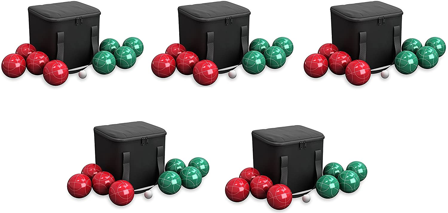 80-76090 Bocce Ball Set Play Hey Outdoor Family Bocce Game for Backyard,