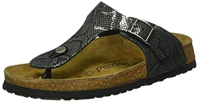 6070f164468d8a Papillio Gizeh Leather Royal Python Black Sandals  Amazon.com.au ...