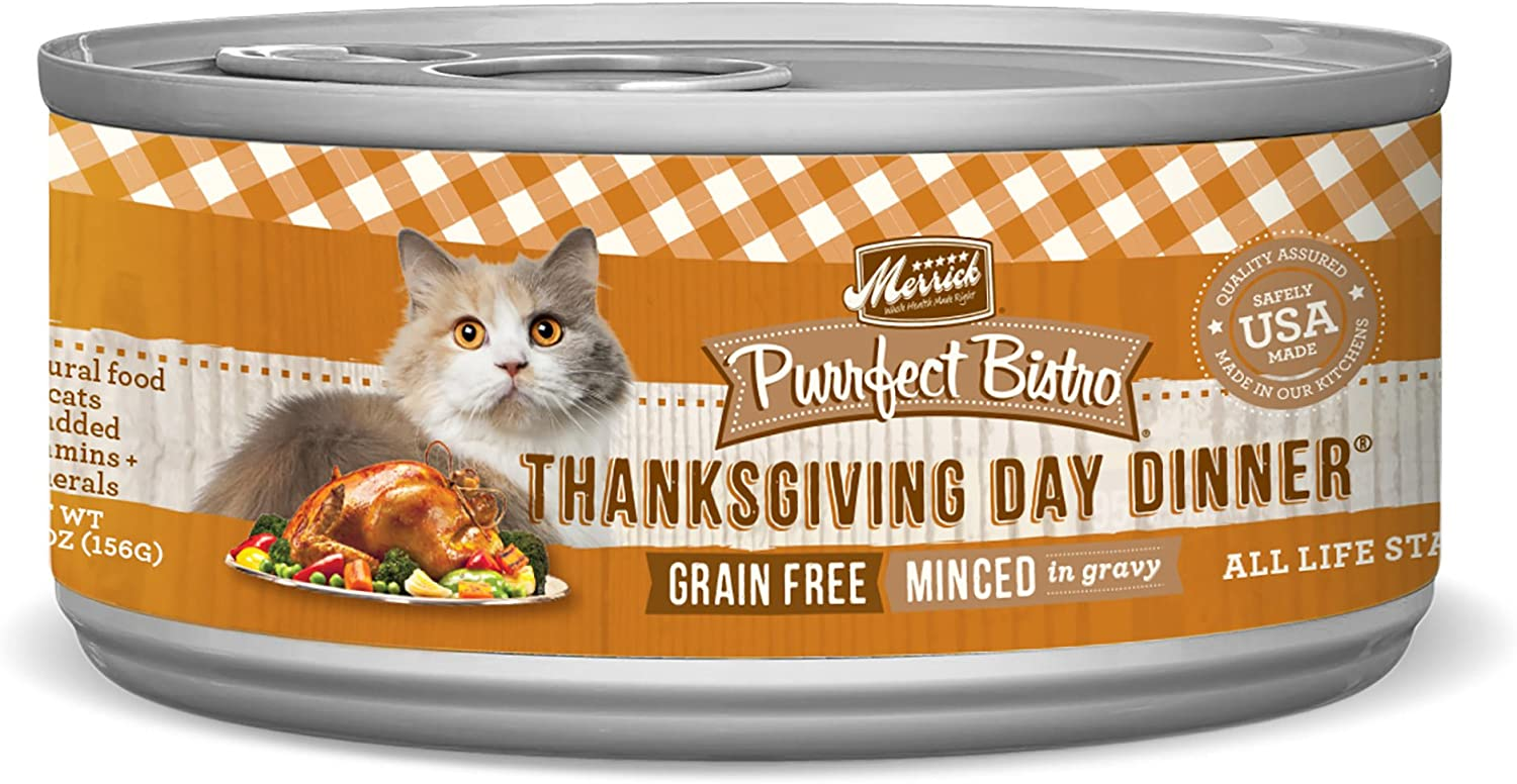 Merrick Purrfect Bistro Grain Free Cat Recipes Thanksgiving Day Dinner