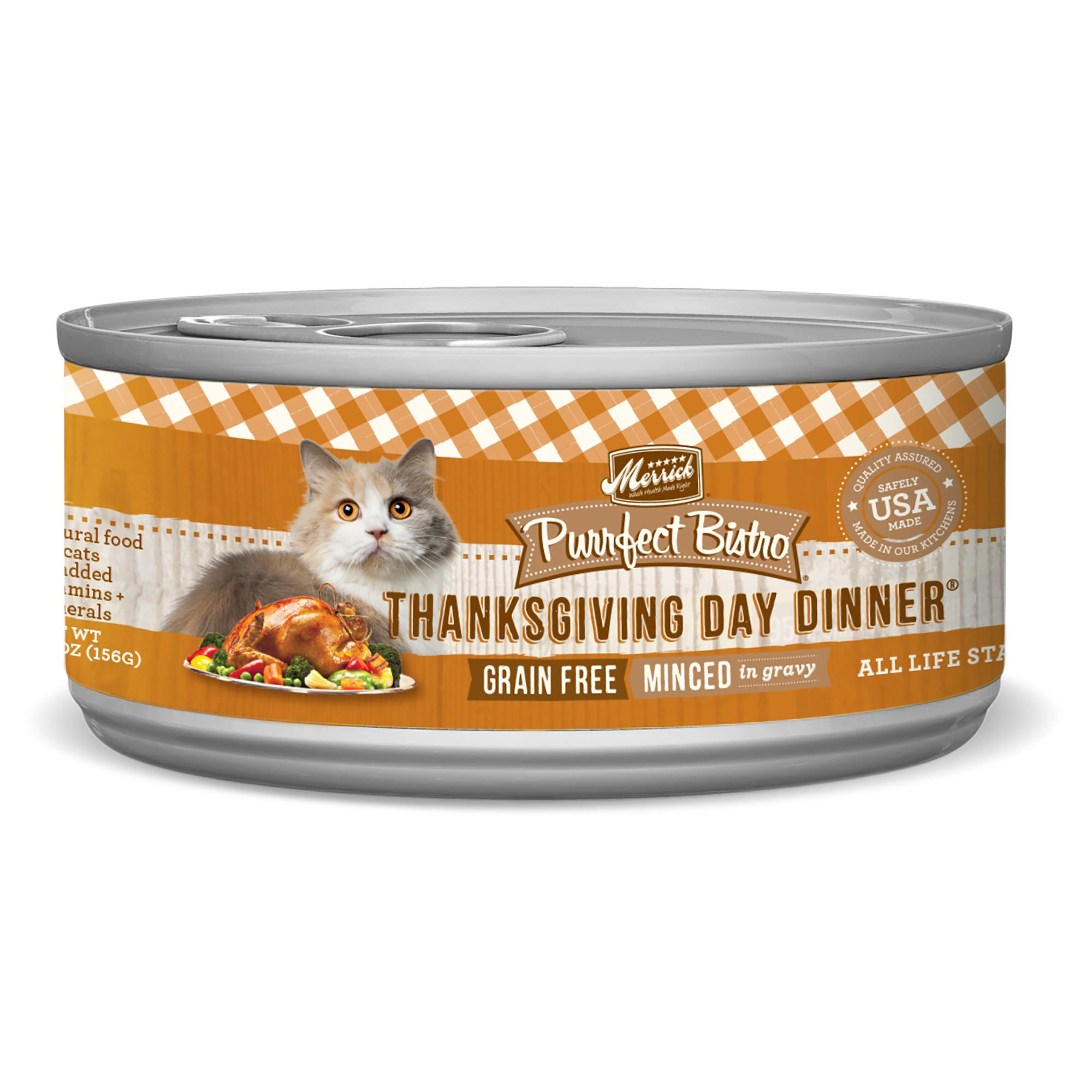 Merrick Purrfect Bistro Grain Free, 5.5 oz, Thanksgiving Day Dinner - Pack of 24  by Merrick