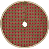 VHC Brands Christmas Holiday Decor - Robert Red Tree Skirt