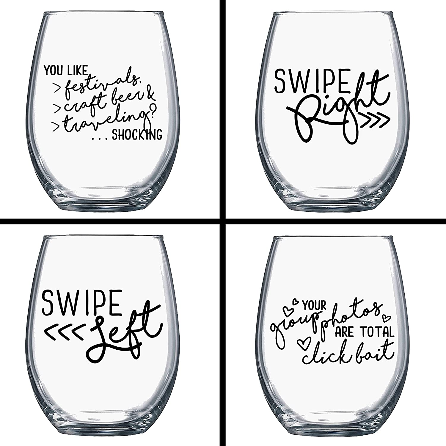 ON SALE! BUY 3 GET 1 FREE - Funny Wine Glasses - Single Ladies Wine Glasses  - Quotes on Wine Glass - Wine Gift - Gift for Her - Gift for Best Friend -  ...