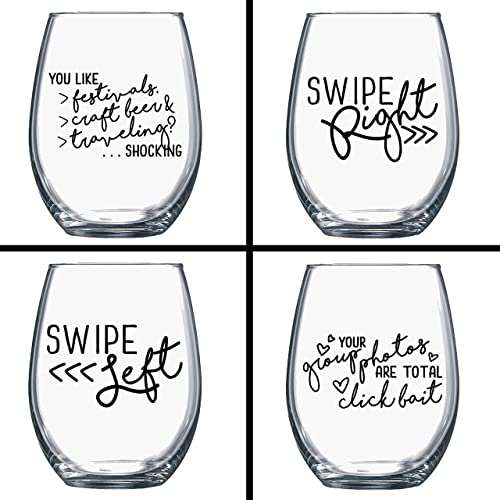Amazon Com On Sale Buy 3 Get 1 Free Funny Wine Glasses Single
