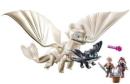 Playmobil Furie éclair Et Bébé Dragon Avec Les Enfants 70038