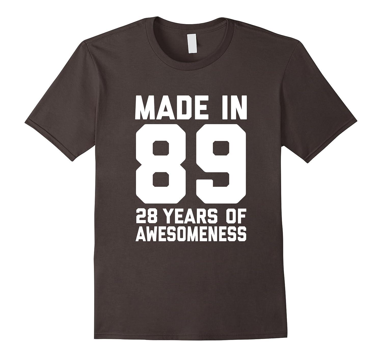 28th Birthday Shirt Gift Age 28 Year Old Mens Womens Tshirt-FL