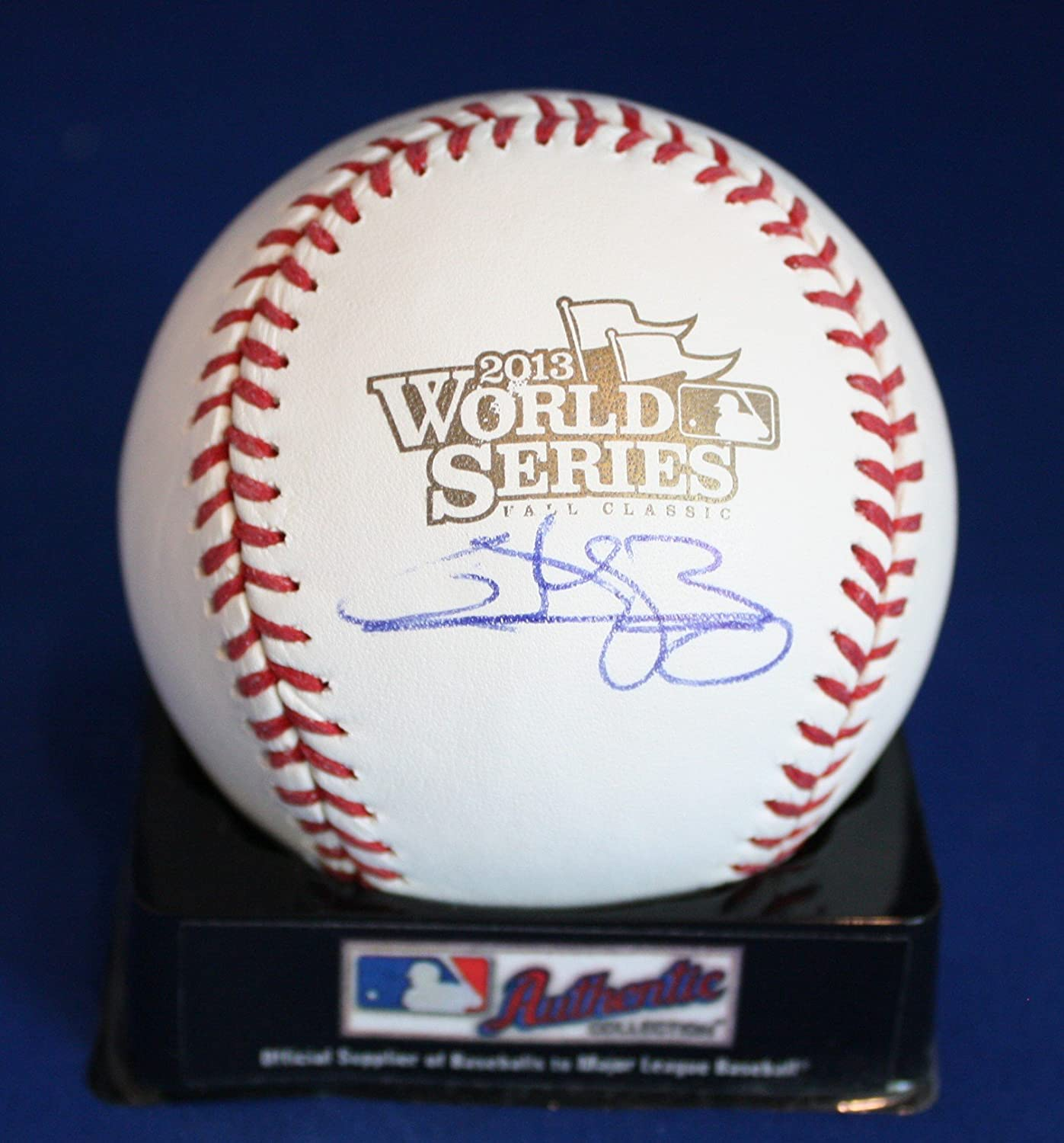Autographed Quintin Berry Rawlings 2013 World Series Official ML Baseball with COA