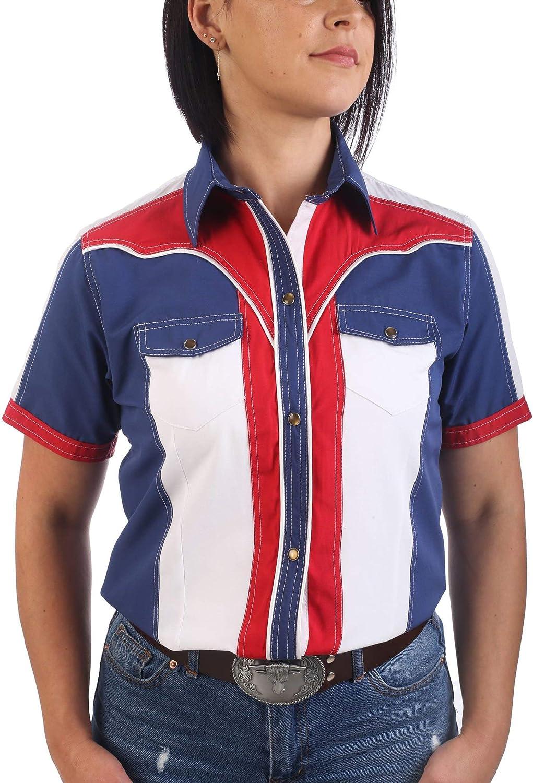 Last Rebels Country Line Dance - Camisa para Mujer, Color Bandera de Estados Unidos: Amazon.es: Ropa y accesorios