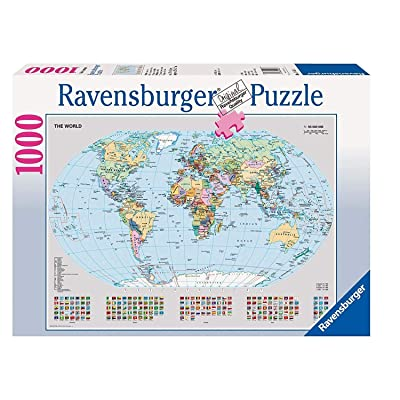 Ravensburger 15652 Political World Map - 1000 Piece Puzzle Puzzle: Toys & Games