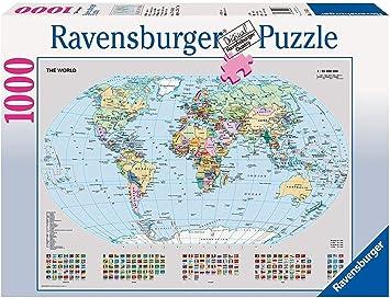 Ravensburger - Mapamundi político, Puzzle de 1000 Piezas (15652 8): Unknown: Amazon.es: Juguetes y juegos