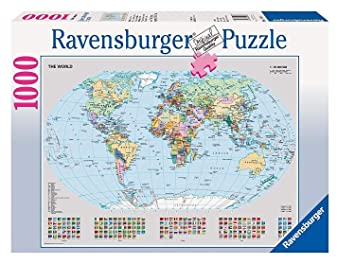 Map Of Uk 1000.Ravensburger Puzzle Political World Map 1000 Pieces