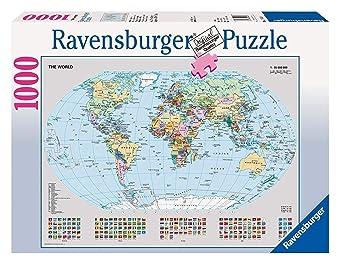 Ravensburger Puzzle 1000 Pièces Carte Du Monde Politique Puzzle Adulte 4005556156528 Néant