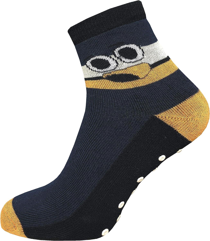 Turnsocken Thermo ideal bei kalten F/ü/ßen und zum Kindersport ABS Socken Vollpl/üsch Haussocken GAWILO 4 Paar Kinder Stoppersocken