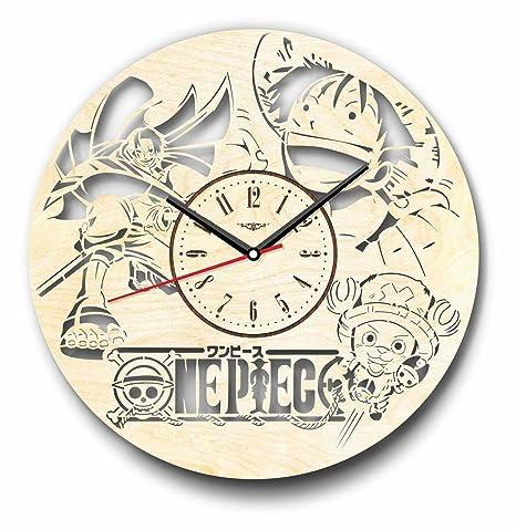 One Piece anime reloj de pared hecho de madera – perfecto y muy bien corte –