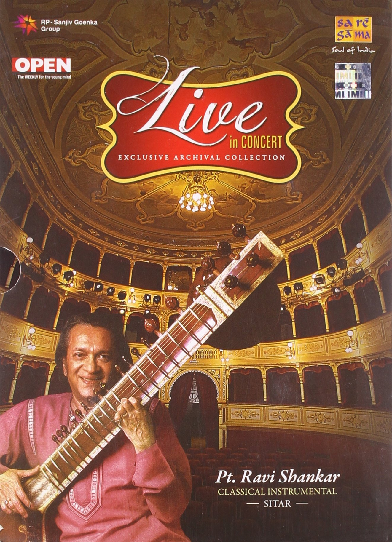 Live In Concert – Pt. Ravi Shankar (Exclusive Archival Collection / Hindustani Classical Instrumental / Sitar / 2-CD Set)