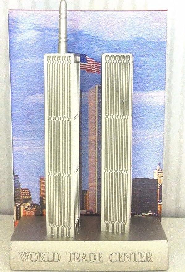 "World Trade Center NYC Model 15/"" New York City Replica Statue Travel Gift"