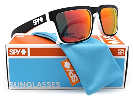 be0c1444e0 Image Unavailable. Image not available for. Color  SPY Optic HELM  Sunglasses Whitewall w Red Spectra ...