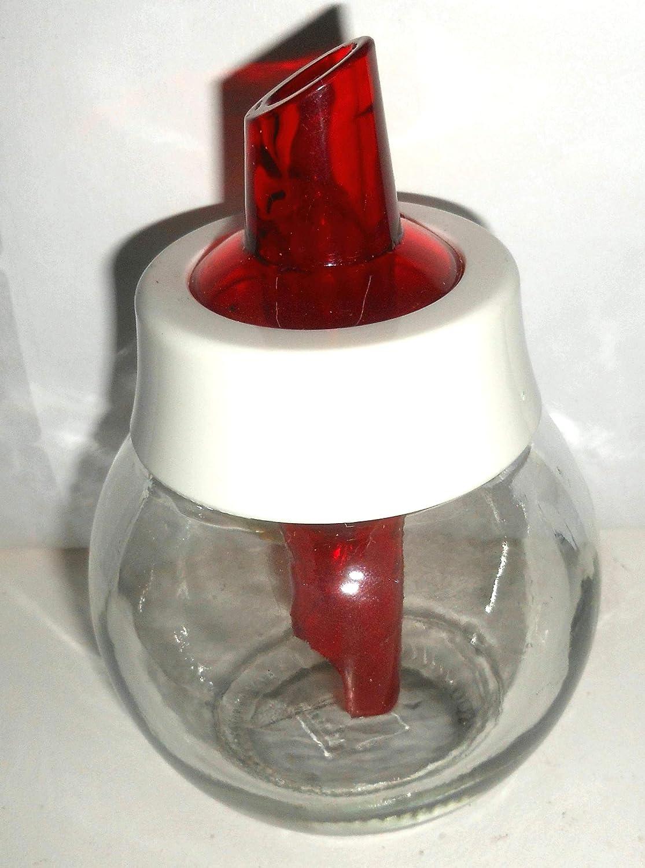 sucrier doseur en Verre et Bec Plastic de Couleur al/éatoire 12x8 cm SUCDOZ G/én/érique Petit