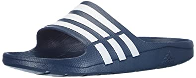 first rate a36cf 5d76c adidas Duramo Slide Chaussures de Plage   Piscine Homme, Bleu WHT Newnav  000,