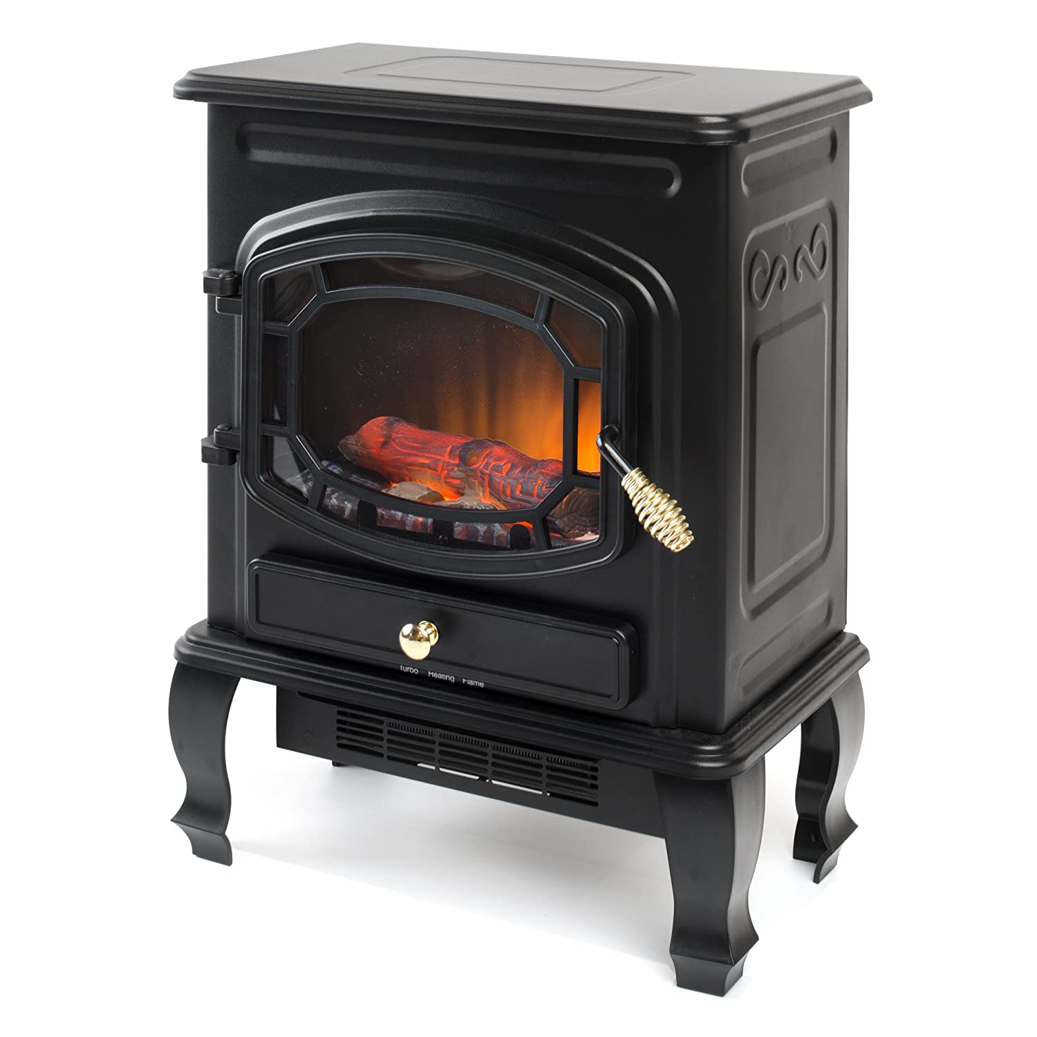 Garibaldi Heating 1500W 23-Inch Electric Stove Heater, Black - Portable & Electric Fireplaces Amazon.com
