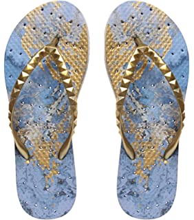 Womens' Antimicrobial Shower & Water Sandals for Pool Beach Dorm and Gym - Shining Stars Collection