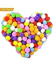 Gifort 250 stücke 2-2.5cm Pompons, Bunte Pompom, Pom Pom bälle Flauschigen Plüsch Bälle für Lustige DIY Kreative Handwerk