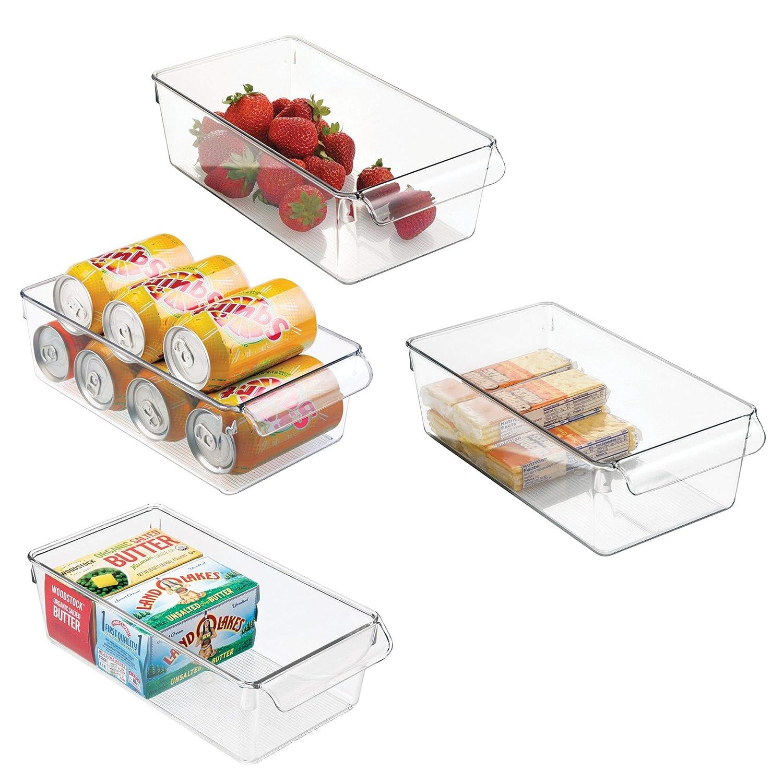 mDesign Aufbewahrungsbox groß mit Griff – ideal zur Küchen Ablage ...