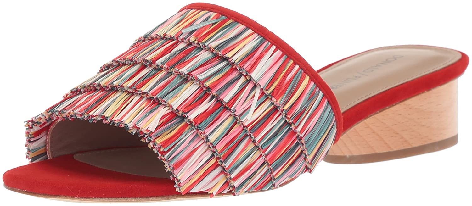 Donald J Pliner Women's Reise Slide Sandal B0756B6G96 9 N US|Red/Multi