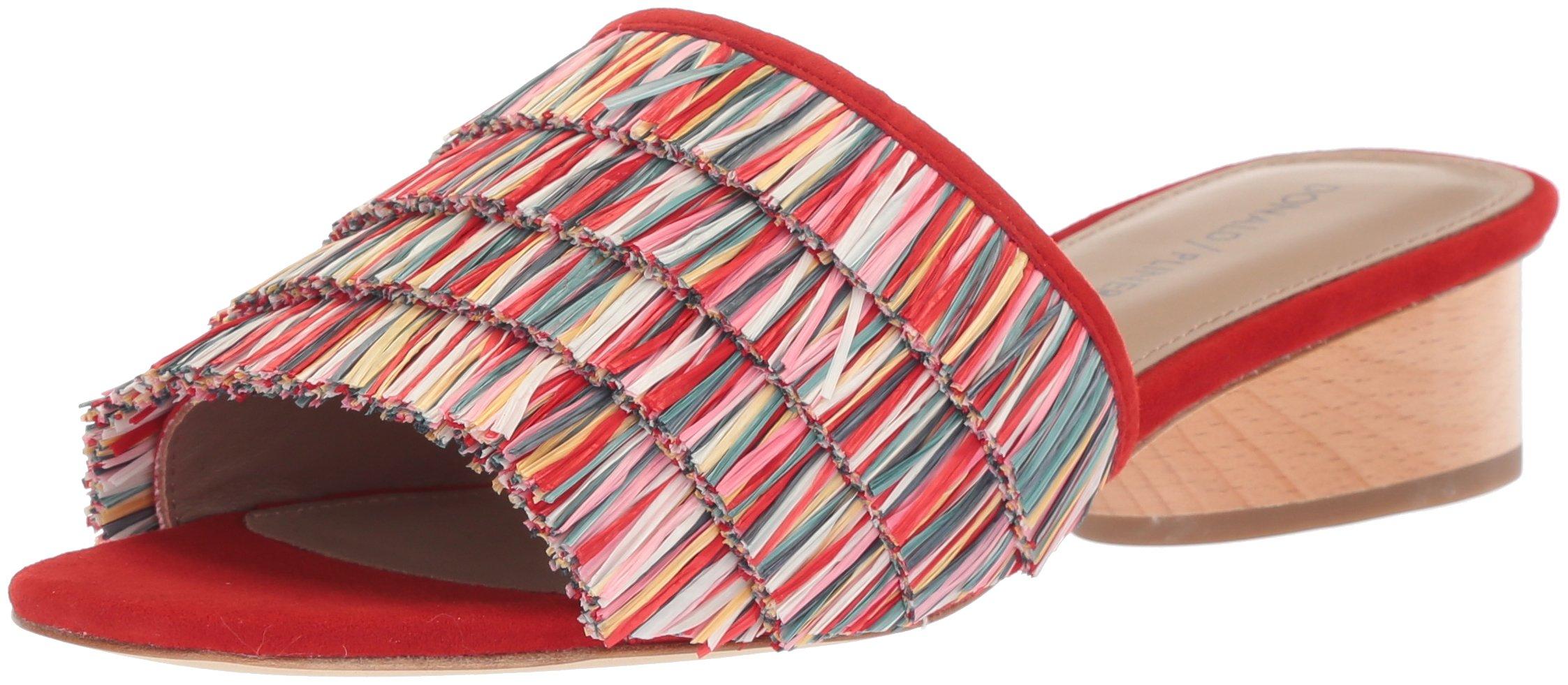 Donald J Pliner Women's Reise Slide Sandal, Red/Multi, 9 Medium US