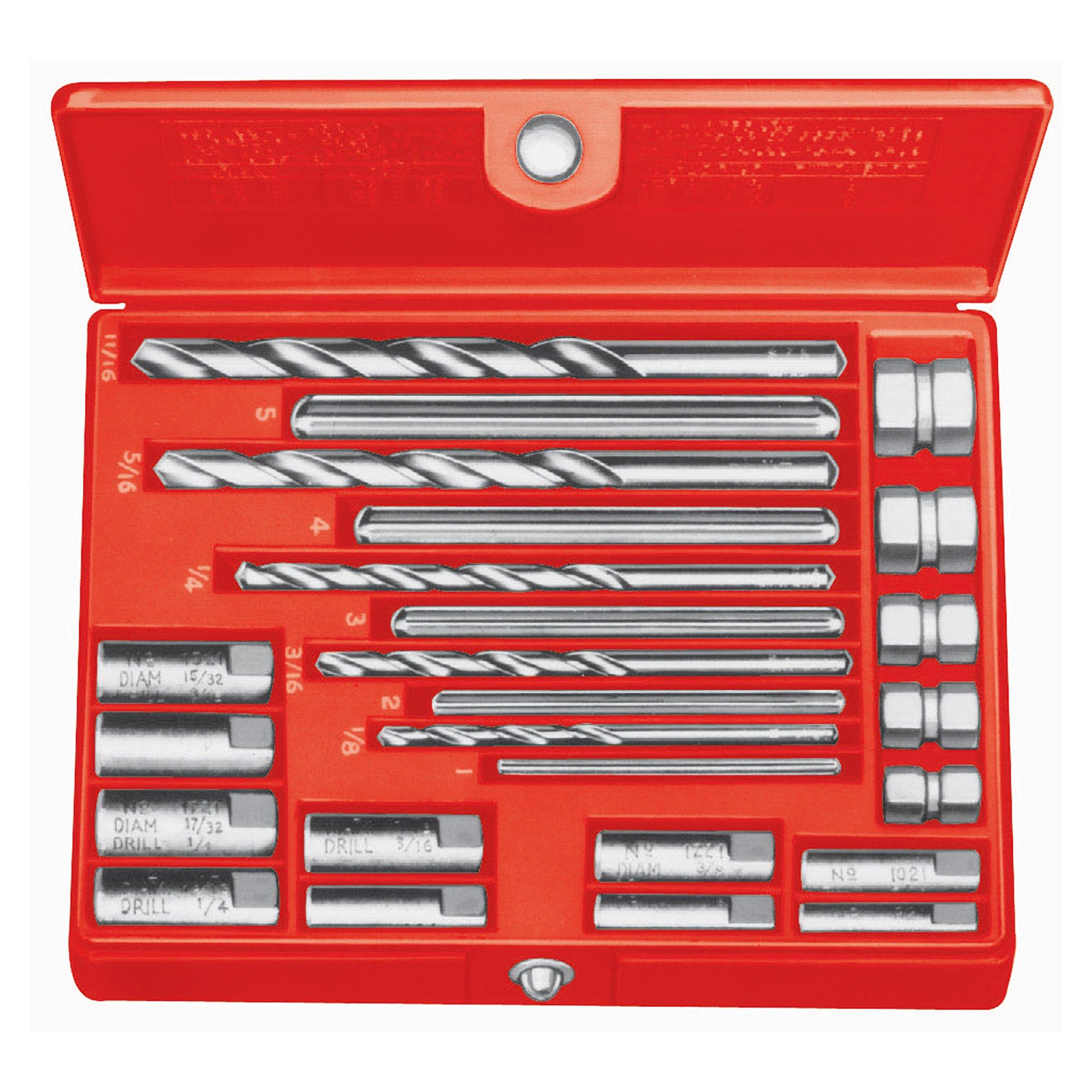 RIDGID 35585 10 Screw Extractor Set, 1/4-inch to 1/2-inch Broken Screw Extractor by Ridgid