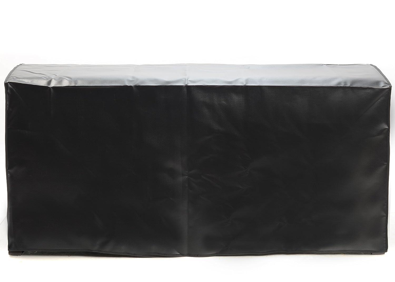 Cover for Suncast DBW9200 Mocha Wicker Resin Deck Box, 99-Gallon (Black / Green) (Black) Quality Choices