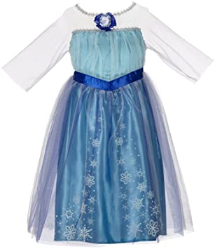 Frozen Elsa Girls Roleplay Costume Dress  sc 1 st  Amazon UK & Frozen Elsa Girls Roleplay Costume Dress: Amazon.co.uk: Toys u0026 Games