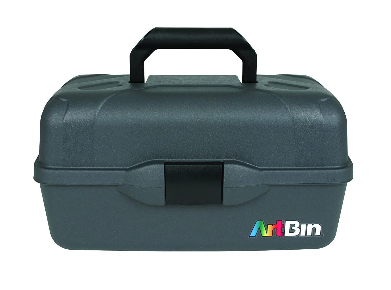ArtBin Essentials-3 Tray Box- Black Art Supply Storage Box, 8737AB
