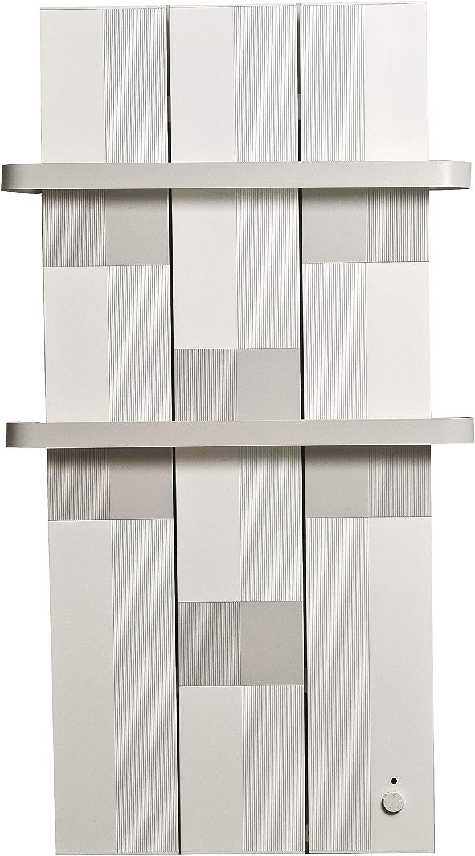 Finesa Badheizkörper Handtuchwärmer Elektrischer Wärmeabgabe 400 750 W Termostat Handtuchtrockner Handtuchhalter 1000x558 Grau Weiß 5 Jahre