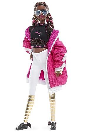 Barbie Collector, muñeca total look deportivo Puma con zapatillas rosas y blancas (Mattel FJH70