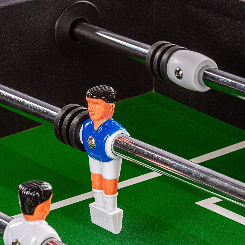 Maxstore Leeds - Futbolín (decoración de Madera Clara, decoración de Madera Oscura, Incluye 2 Pelotas y 2 portavasos, futbolín), Color Blanco y Negro, Dekor (Cyber): Amazon.es: Deportes y aire libre