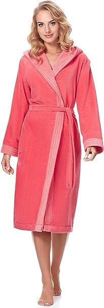 TALLA M. Merry Style Bata Larga con Capucha Vestidos de Casa Ropa Mujer MSLL1001