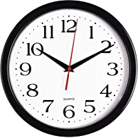 wall clocks for office. Bernhard Products Black Wall Clock, Silent Non Ticking - 10 Inch Quality  Quartz Battery Operated Wall Clocks For Office I