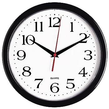 Bernhard Products 10 Inch Black Modern Wall Clock