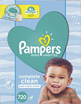 720-Count Pampers Baby Wipes Complete Clean Scented Pop
