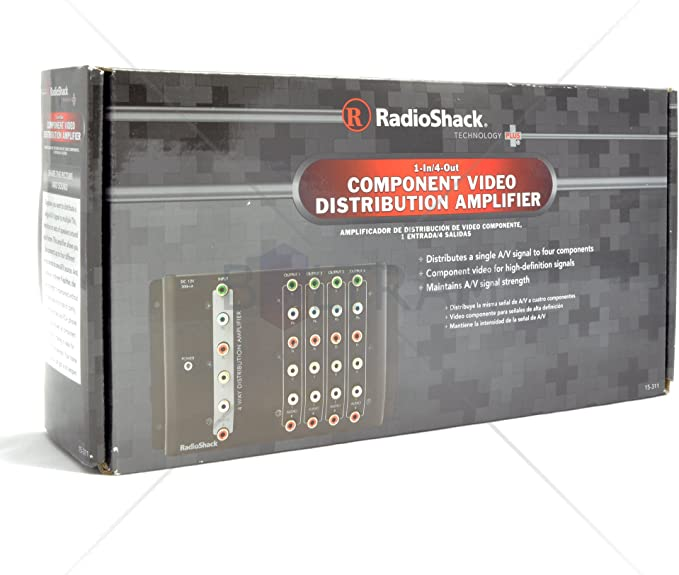 RadioShack 4-Way Component Video Distribution Amplifier 15-311