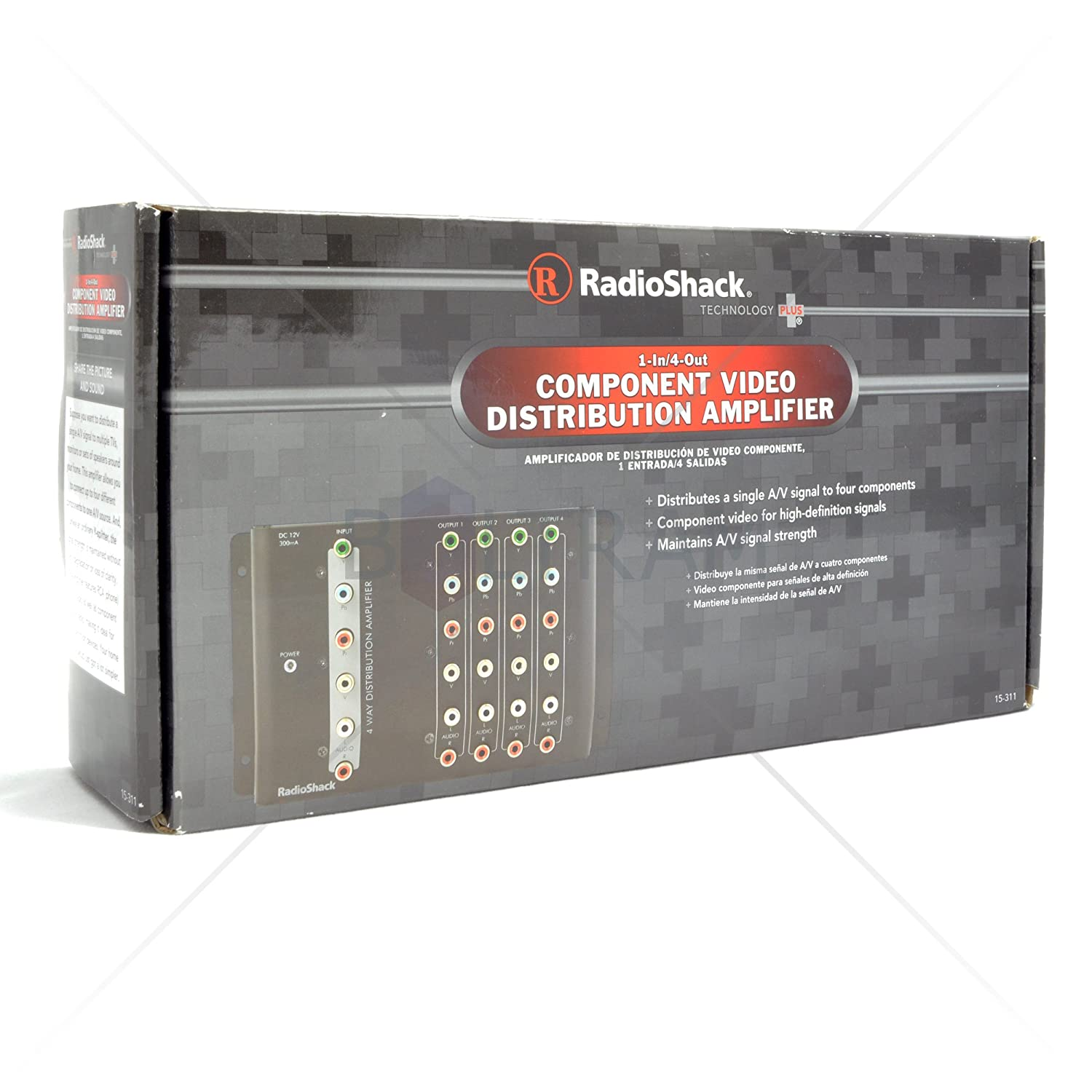 Amazon.com: RadioShack 4-Way Component Video Distribution Amplifier 15-311: Home Audio & Theater