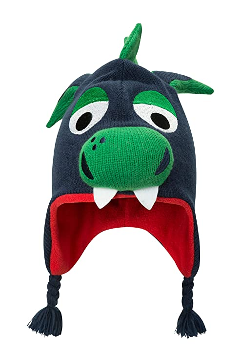 Mountain Warehouse Dragon Cappello per Bambini - Berretto con Nappe  Intrecciate e10ce9c004a6