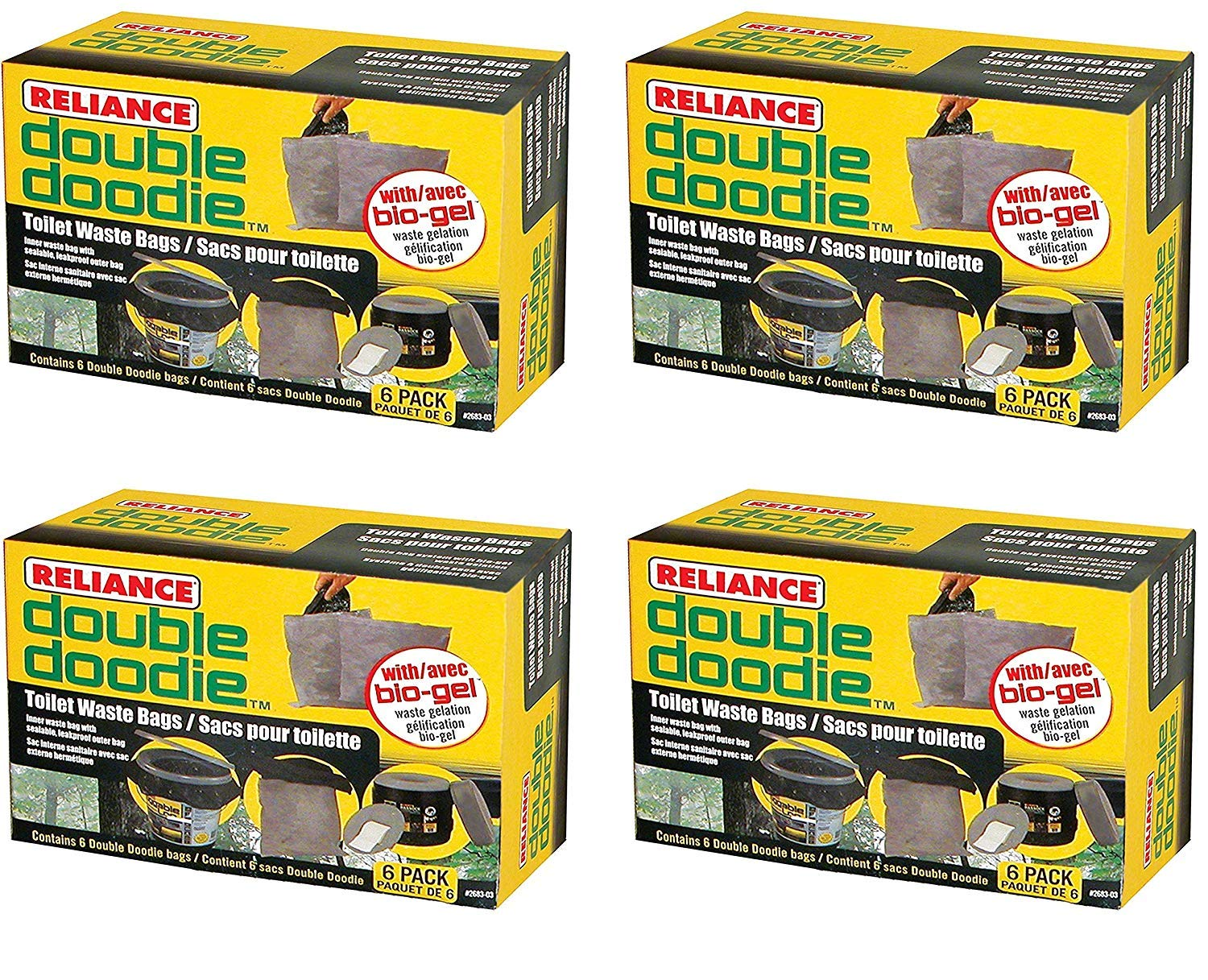 Reliance Products 2683-03 Double Doodie Toilet Waste Bags by Reliance Products