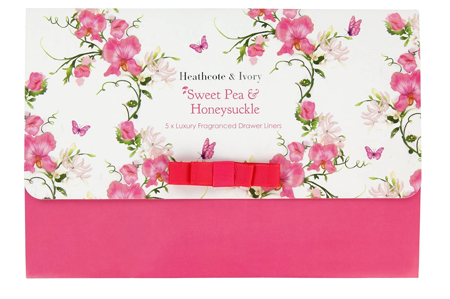 Heathcote & Ivory Sweet Pea and Honeysuckle Luxury Fragranced Drawer Liners, Set of 5 FG4309
