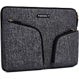 DOMISO 10.1 Inch Waterproof Laptop Sleeve with Back Handle Canvas Case Protective Bag for 10.1-10.5 Inch Laptops/eBooks/Kids Tablets/iPad Pro/Lenovo Yoga Book/Asus/Acer, Dark Grey