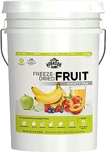 Augason Farms Fruit Variety Pail Long Term Food Storage Camping Everyday Meal Prep 6 Gallon Pail